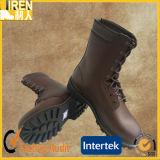 新しい方法柔らかい革本物牛革軍の戦闘用ブーツ