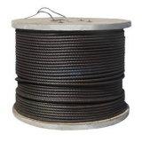 Schwarzes Stahldrahtseil-Kabel 6X25fi