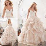 изготовленный на заказ<br/> Ballgown Organza свадебные платья Vestido де Novia устраивающих платье (8127)