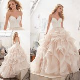 Ballgown Organza 결혼 예복 Vestido 주문품 De Novia 신부 드레스 (8127)