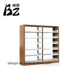 Muebles fijados de la estantería de la madera y del metal de la estantería (BZ-0160)