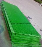 El FRP/fibra de vidrio/rejilla de plástico GRP con rejilla de suave