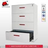 Haltbarer eleganter 4 Fach-Metallc$voll-aufhebung seitlicher zugelassener oder letzter Stahldatei-Schrank-Schreibtisch-Gebrauch
