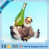 Resina pato titular de la botella de vino al por mayor para la decoración del hogar