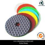 화강암을%s 유연한 건조한 닦는 거친 패드를 또는 대리석 또는 돌 역행시키는 100mm 벨크로