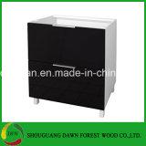 Cabina de cocina baja de la cabina de la cocina con la cabina de los cajones, cabina de cocina High-Gloss del color del negro de la laca