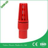 Valvola del rifornimento UPVC della fabbrica, singolo valvole a sfera, zoccolo o filetto del sindacato del PVC per i montaggi Pn10, Pn16 del PVC