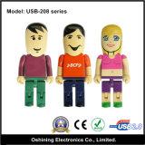 Azionamento divertente fragile dell'istantaneo dell'uomo del fumetto & del USB di figura delle donne (USB-208)