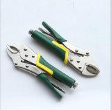 Изогнутые ручным резцом плоскогубцы челюсти фиксируя с ручкой TPR