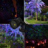 Das rote &Blue, das Laser verschiebt, zeigt Garten-Laser-im Freienbeleuchtung-Rasen-Beleuchtung-Yard-Dekoration-Beleuchtung