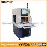 Máquina de la marca del laser de dos estaciones de trabajo con la protección incluida completa del laser
