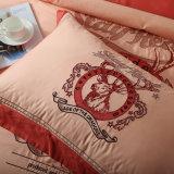 100% Egipto Cotton White Bordados Palace Royal tamanho Queen colcha da cama de cobertura definida