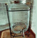 4L/5L/8L 275oz освобождают стеклянный опарник сока с стойкой металла