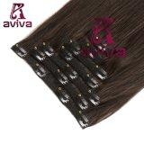 Brasil Hair Extension Clip en el cabello humano de 14 pulgadas de extensión de la Virgen Hair Extension Clip Hair Extension 1b# Color Rubio (AV-CH05-14-1B#)