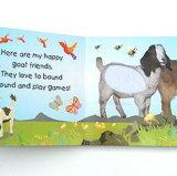 새로운 디자인 재미있은 아기 접촉과 느낌 독서 이야기 책 인쇄