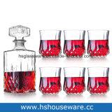 4PCSガラスのゴブレットが付いている高品質の水晶ウィスキーのガラスビン
