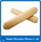 Goujon en bois solide rond conique directement moleté de garnitures de meubles