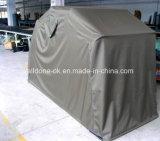オートバイの避難所のガレージのテントの広告、Motoの家