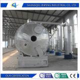 Plástico usado de reciclaje ambiental al sistema de gasolina y aceite