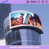 Écran incurvé polychrome d'Afficheur LED d'intense luminosité arc extérieur/d'intérieur pour annoncer (vidéo P6, P8, P10, P16)