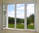 Weiße Farbe drei Panles Aluminiumflügelfenster-Fenster