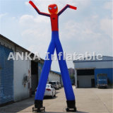 Sky inflable y bailarín del aire dos piernas del hombre de araña