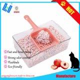 Venta caliente, de forma rápida racimos, Control de Olores Peach Tofu cat litter