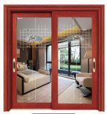 2 o 3 vías exterior de aluminio puerta deslizante con mosquitera