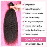 Weave europeu indiano peruano malaio brasileiro reto Kinky por atacado do cabelo humano de Remy do Virgin de Yaki
