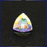 虹Abによって塗られるカラー兆伯爵夫人の切口CZのAsscherによって切られる立方ジルコニアは緩く投石する
