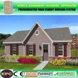 Casa e casa de campo pré-fabricadas concretas de formação de espuma de instalação fáceis baratas fortes