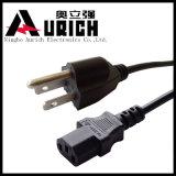 Cordon d'alimentation du câblage électrique, USA bouchon NEMA type 3 broches, câble rallonge