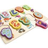 Zahl-Puzzlespiel-Vorstand für das Kleinkind-hölzerne Spielzeug pädagogisch