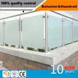 Acier inoxydable 316 Balcon balustrade balustrades en verre de mains courantes