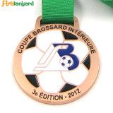 O desporto de alta qualidade Medalha de metal com esmalte de disco rígido