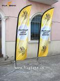 Bandiera su ordinazione di alluminio della bandierina della visualizzazione della piuma di mostra