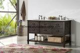 Vanità europea solida della stanza da bagno del MDF dell'oggetto d'antiquariato del Governo di stanza da bagno di legno (WH5248)