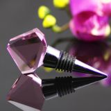 Crystal reso personale Glass Wine Stopper per Wedding Gift