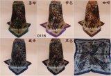 Bevordering 90*90cm Sjaal van het Satijn van de Prijs van de Polyester van 100% de Goedkope Grote Vierkante
