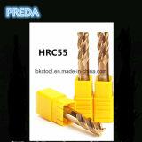 Cabride 단단한 HRC55 4 플루트는 반경 공구를 모서리를 낸다