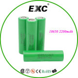 Bateria 2200mAh do íon 18650 de Li da parte superior lisa