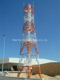 4 patas de acero de ángulo de la torre de celosía de antena de microondas