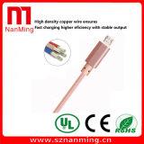 Cable trenzado de nylon de la carga de la sinc. del USB 2.0 para Samsung