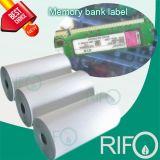 С одной стороны покрытием BOPP синтетические бумаги для банков памяти