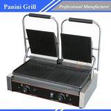 Restaurante comercial Prensa Sandwich Panini Grill placa doble Machiery alimentos
