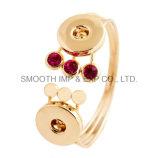 Мода Rhinestone Золотой браслет украшения аксессуары пружинные стопорные кнопки