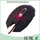 Полный размер эргономичный дизайн Проводная мышь для игр с 6 кнопками (M-65-1)
