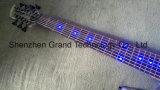 7 chaînes lampe LED bleu guitare basse électrique avec corps en acrylique (GB-84)