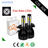 Neueste Superhelligkeit 8000lm des LED-Scheinwerfer-80W mit LED-Auto-Willkommens-Tür-Licht und Selbstlicht (H1 H3 H4 H7 H11 H13)