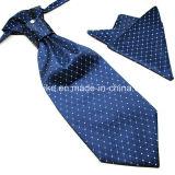 100% Polyester Soie Haute Qualité Hankerchief et Ascot Unique Ties for Men